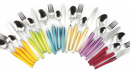 24dílná sada barevných příborů Villa d'Este Posate