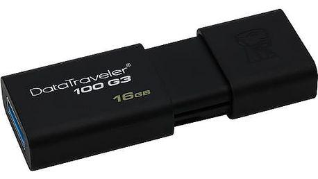 USB Flash Kingston DataTraveler 100 G3 16GB černý (DT100G3/16GB)