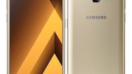 Mobilní telefon Samsung Galaxy A3 (2017) zlatý + dárek (SM-A320FZDNETL)