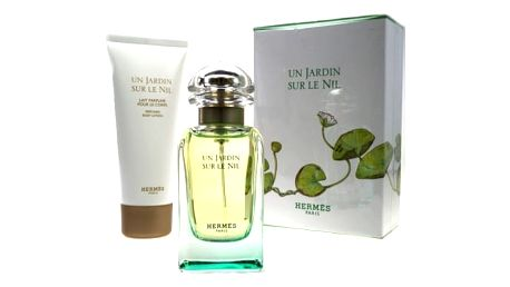 Hermes Un Jardin Sur Le Nil dárková kazeta pro ženy toaletní voda 50 ml + tělové mléko 75 ml