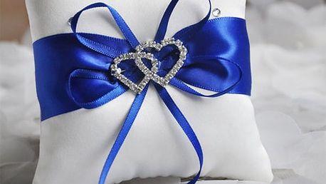 Mini polštářek na svatební prstýnky - 4 barvy