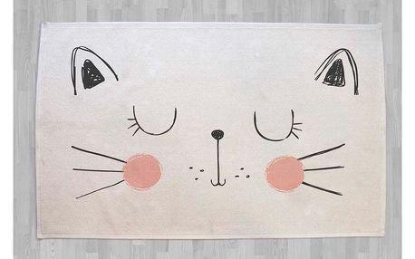Bavlněný kobereček s kočkou Little Nice Things