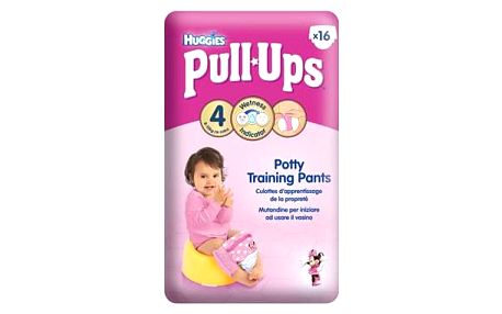 Huggies Pull Ups Small - Girls 8-15 kg, 16 ks