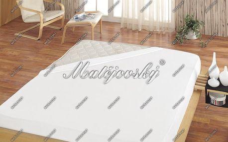Matějovský prostěradlo Jersey bílá, 100 x 200 cm