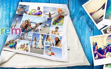 Fleecova fotodeka z vlastních fotek pro zvířata, děti či dospělé