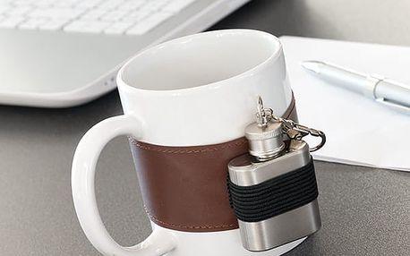 Keramický Hrnek s Kovovou Placatkou Gadget and Gifts