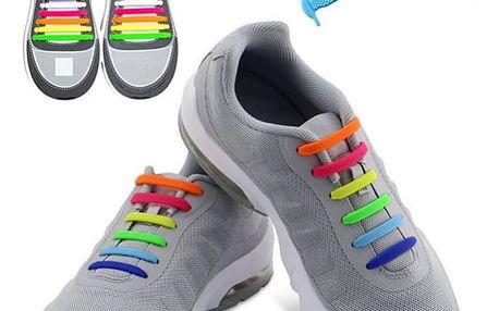 Silikonové tkaničky do boty (16 kusů) - dodání do 2 dnů