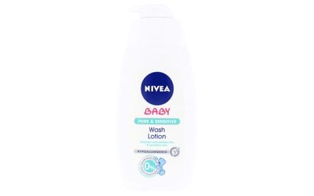 Nivea Baby Pure & Sensitive Wash Lotion 500 ml čisticí gel