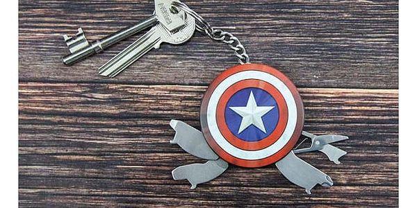 Multifunkční přívěsek na klíče Captain America