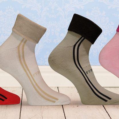 4 páry dámských sportovních froté ponožek