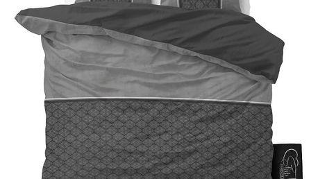 Antracitové povlečení z mikroperkálu Sleeptime Luxury Barock,160x200cm