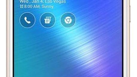Mobilní telefon Asus ZenFone Live ZB501KL zlatý + dárek (ZB501KL-4G014A)
