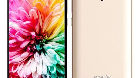 Mobilní telefon Aligator S5062 Dual SIM (AS5062GD) zlatý