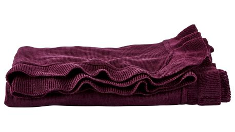 Deka v barvě boreaux Villa Collection,130x160cm