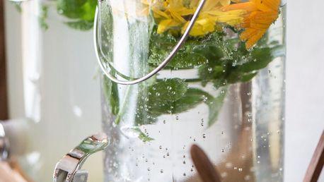 IB LAURSEN Skleněná nádoba na limonádu 2 l, čirá barva, sklo