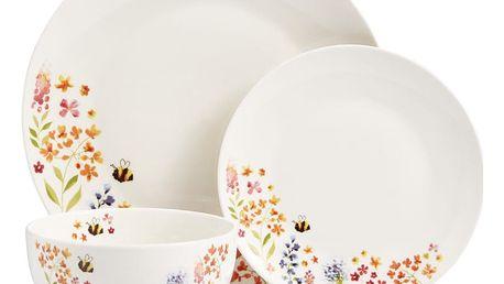Set 12 nádobí Cooksmart England Flowers