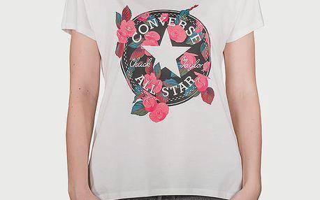 Tričko Converse Floral Cp Femme Tee Bílá