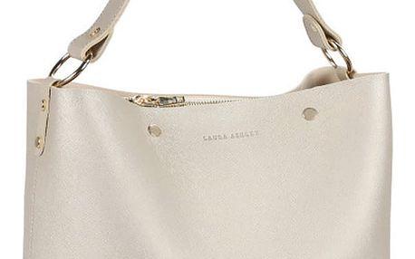 Kožená kabelka ve zlaté barvě Laura Ashley Urlwin