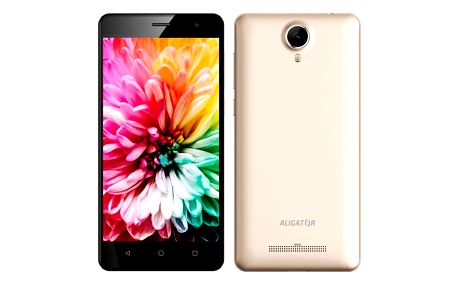 Mobilní telefon Aligator S5062 Dual SIM (AS5062GD) zlatý Software F-Secure SAFE, 3 zařízení / 6 měsíců v hodnotě 979 Kč