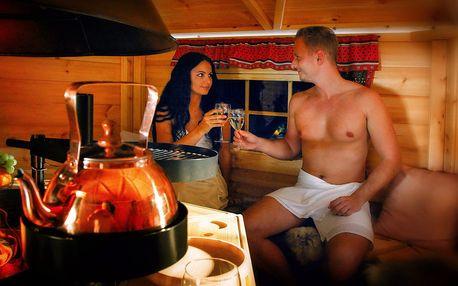 Pronájem grillkoty s ohništěm a saunou pro 4 os.