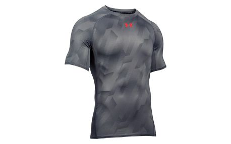 Kompresní tričko Under Armour HeatGear Printed SS Šedá