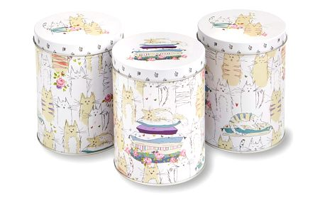 Sada 3 plechových dóz Cooksmart England Kittens