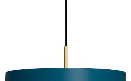 Petrolejově modré závěsné svítidlo VITA Copenhagen Asteria, Ø43cm