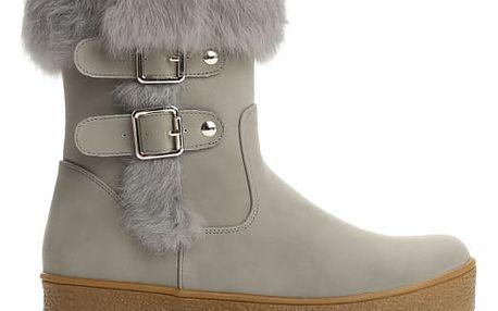 Dámské šedé kotníkové boty Fionna 2147