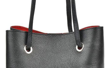 Černá kožená kabelka Mangotti Lila
