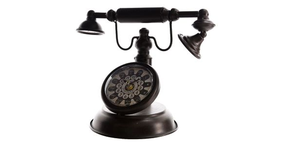Retro hodiny Phone, 31 cm