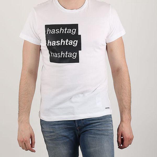 Tričko Diesel ADV-T-HASH MAGLIETTA Bílá