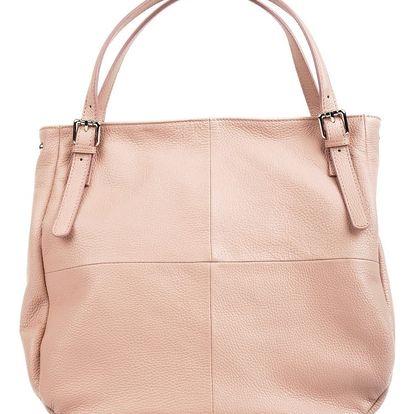 Růžová kožená kabelka Isabella Rhea Nicole