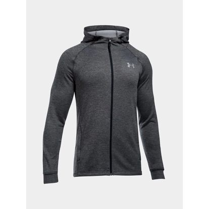 Mikina Under Armour Tech Terry Fitted FZ Hoodie Šedá