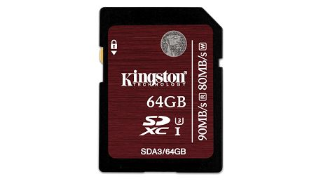 Paměťová karta Kingston SDXC 64GB UHS-I U3 (90R/80W) (SDA3/64GB)
