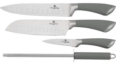 BERLINGERHAUS Velvet Sada nožů 4 ks, nerez, šedá BH-2016