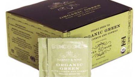 Harney & Sons BIO zelený čaj s citrónovou trávou a ginkgem 50 sáčků