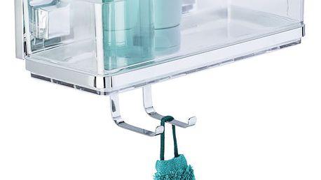 Koupelnová polička QUADRO, Vacuum-Loc, do sprchového koutu, WENKO