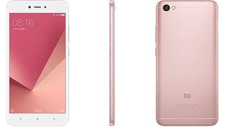 Mobilní telefon Xiaomi Redmi Note 5A 16 GB Dual SIM CZ LTE růžový + dárek (PH3719)