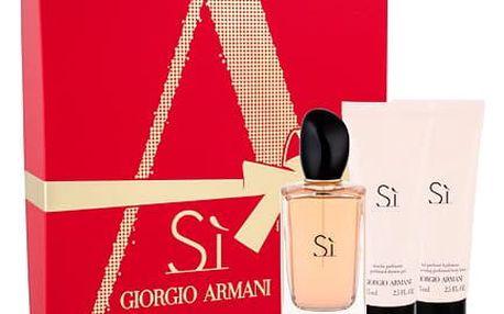 Giorgio Armani Si EDP dárková sada W - EDP 100 ml + tělové mléko 75 ml + sprchový gel 75 ml