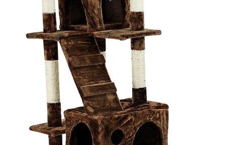 Škrábadlo Hawaj pro kočky, 170x75x50 cm, tmavě hnědé