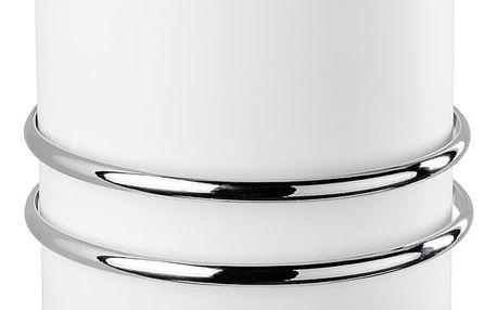 Koupelnový odpadkový koš CALI, Swing Bin, Express-Loc - bílá barva, WENKO