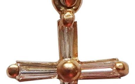 Zlatý křížek s diamanty včetně poštovného