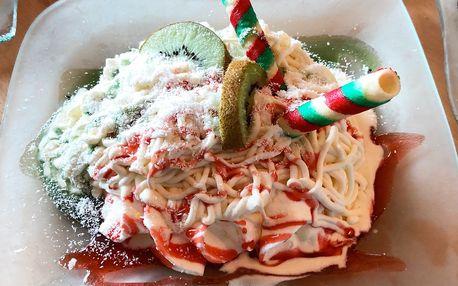 Špagetová nebo pohádková zmrzlina + nápoj