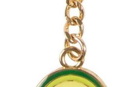 sass & belle Přívěsek na klíče Avocado, zelená barva, kov