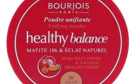 BOURJOIS Paris Healthy Balance 9 g pudr pro ženy 56 Light Bronze