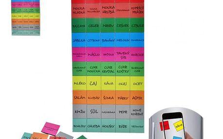 Magnety na lednici - Nákupní seznam