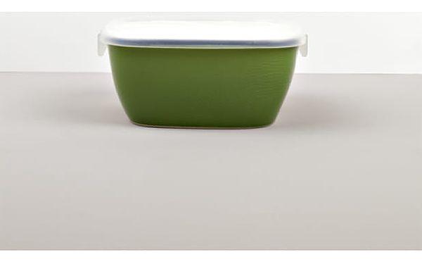 MIJ Hranatá nádoba s víkem COLOURBLOCK zelená