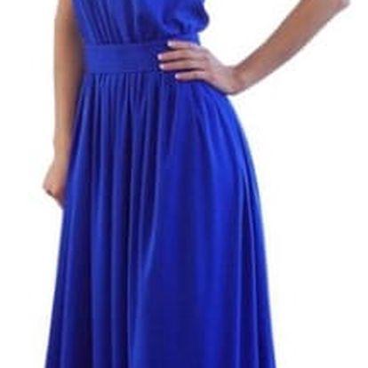Dlouhé večerní šaty - modré