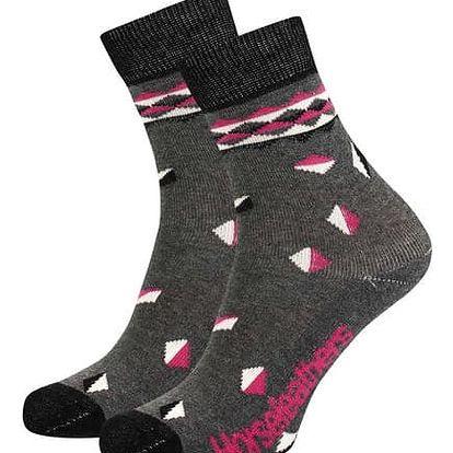 Ponožky Horsefeathers Vania heather gray 7-8