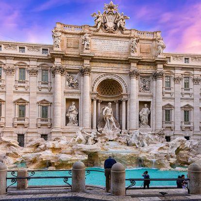 Řím, Vatikán, Tivoli z Moravy: 2x nocleh, snídaně